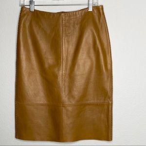 Banana Republic Genuine Leather Skirt size 8